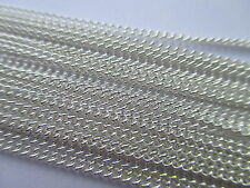 UK 1 Metre Silver Jewellery Curb Closed Link Necklace Chain 2mm x 1mm approx