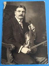 *Original* VIOLINIST Man Violin Musical Instrument 1920's Photograph Music