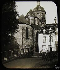 Glass Magic Lantern Slide MONT SAINT MICHEL CHURCH C1900 FRANCE PHOTO