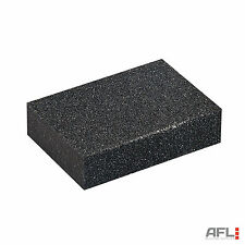 Fine & Medium Foam Hand Sanding Block 100mm x 70mm x 25mm - Use Wet or Dry