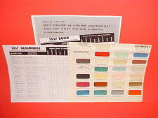 1957 OLDSMOBILE SUPER 88 HOLIDAY COUPE 98 STARFIRE CONVERTIBLE PAINT CHIPS SW