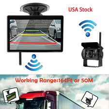 "US Stock 5"" Inch Monitor+Wireless Car Rear View Back Up Camera For RV Truck Van"