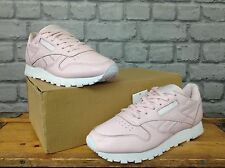 REEBOK LADIES UK 6 EU 39 PINK LEATHER CLASSIC TRAINERS RRP £60 SPRING SUMMER