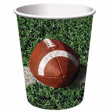 Creative Converting Tailgate Rush Paper Cups Football Party 9 oz Hot Cold Set 8