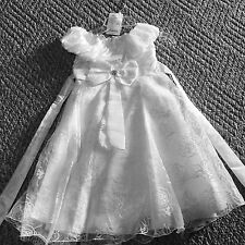 Gorgeous Girls Size 3t White Dress with Roses Wedding Holiday