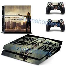 The Walking Dead Rick Grimes Decals Skin Stickers Sony PS4 Console 2 Controllers