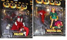 MARVEL Anime Collectors Edition MARVEL GOLD FALCON and Marvel GIRL Lot MOC