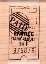 New STAMPINGTON & CO RUBBER STAMP french ticket Stamped PAID free usa ship