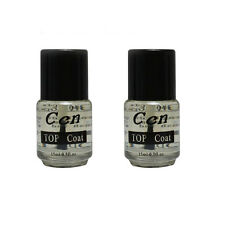 2pcs Nail Art Tips UV Top Coat Acrylic Gel Polish Shiny Gloss Manicure SET