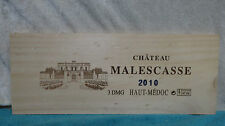 2010 CHATEAU MALESCASSE HAUT MEDOC WOOD WINE PANEL END