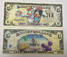 Disneyland 2009 Minnie Mouse & Daisy Duck $5 Five Disney Dollar Mint A00002954