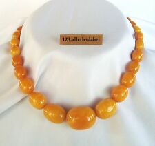 Top Butterscotch Bernsteinkette Oliven color real amber Bernstein Kette / AQ 617