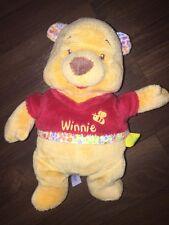 Disney C&A Winnie Pooh Teddybär Gelb Rot Kuscheltier Plüschtier Stofftier Biene