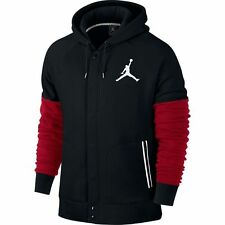 NEW Men's Jordan by Nike Varsity Hoodie Jacket Size: X-Large Color: Black/Red
