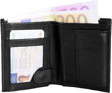 Monopol - Echtes Lammleder - Klein - 8x10 cm - Kompakt  - Herren - Geldbörse