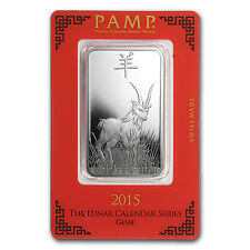 1 oz Silver Bar - Pamp Suisse (Year of the Goat) - SKU #86006