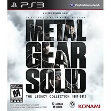 Metal Gear Solid The Legacy Collection Solus Game PS3 Brand New