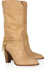 RALPH LAUREN COLLECTION NALA CAMEL MIDCALF LEATHER NAVAJO BOOTS 8.5 6 £810!