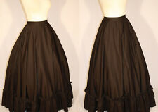 Vintage Theater Costume Blk Polyester Women's Black Pritate Wench Skirt M