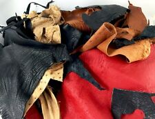 Exotic Ostrich Leather Scrap Bag, 2 Pounds of Genuine Ostrich Hide Remnants