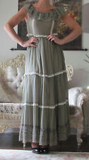 RED VALENTINO Runway Silk/Cotton&Lace,Ruffles,Lined Long Dress It 42,US 6-8/S-M