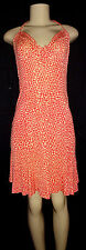 DIANE VON FURSTENBERG Beautiul 100% Silk Print Halter Dress Size 2