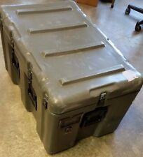 "Pelican Hardigg Military 2 Wheel Medical Transport Storage Case 33x21x19"" Green"