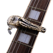 Bronze Alice A007G/BR Unique Crocodile Aluminum Alloy Acoustic Folk Guitar Capo