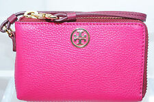 Tory Burch Robinson Pebbled Convertible Wallet Wristlet Handbag Women's Bag NWT
