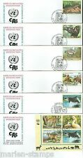 UNITED NATIONS 2000  ENDANGERED SPECIES LOT OF 15   FIRST DAY COVERS AS SHOWN