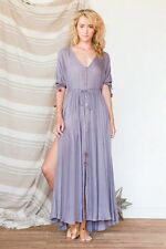 TREE OF LIFE grey canyon maxi dress S gypsy boho BNWT bohemian RARE