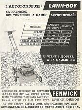 W5282 LAWN BOY la première des toundeuses a gazon - Pubblicità 1961 - Publicitè