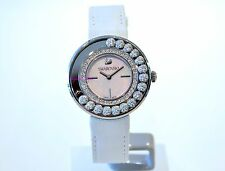 Swarovski Authentic Lovely Crystals White Watch Moving 1160308 Brand New In Box