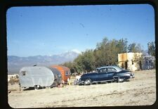 1950s Photo slide Desert  Holmes Hot Springs CA Car Automobile Camping Trailer