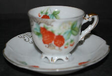 UCAGCO China Made in Occupied Japan Raspberry Footed Demitasse cup and saucer