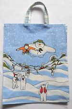 THE SNOWMAN CHILD'S CHILDREN'S PVC COATED COTTON BAG WITH GUSSET
