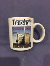 Teacher Magazine Coffee Cup with magazine cover of Inservice Education