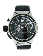 Elgin 1863 12110.2 Men's Left Handed Round Stainless Steel Black Leather Watch