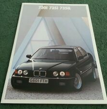 1989 1990 BMW 730i 735i 735iL - UK 2/89 BROCHURE 7 Series