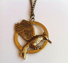 Hunger Games 2 Catching Fire Bird Necklace Pendant  Katniss BRONZE NEW DESIGN