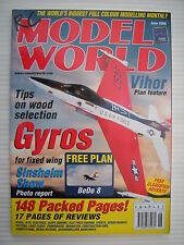 RC Model World - Radio Controlled Aircraft - June 2000 Complete with Unused Plan