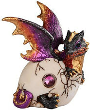 FIRE STARTER        Emerging Baby Dragon from Egg  Statue   H5.5""