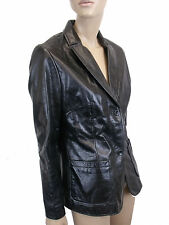 LADIES 100% REAL LEATHER BLACK JACKETS from GAP SIZE M (D-37)