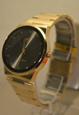 Gold and Black Dial Men's Watch Q&Q By Citizen  ELEGANT
