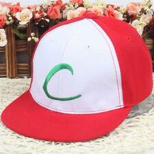 Cute Pokemon Ash Ketchum Trainer Cosplay Kids Boy Girl Baseball Cap Sun Hat Gift