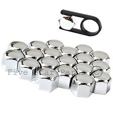 20 Chrome Wheel Nuts Bolts Cup Covers 19 mm Set for VW Transporter T4 T5
