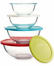 Pyrex Smart Essentials 8-Piece Mixing Bowl Set with Numbered Colored Lids