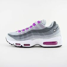 New Womens Nike Air Max 95 White Violet Trainers Sneakers Mens UK 6.5 307960 001