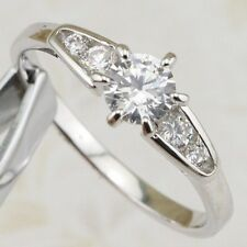 Size 5.5 Cute Simple Nice White 5*5mm CZ Gems Gold Filled Lady Ring R1954