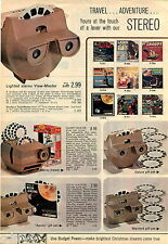 1969 ADVERTISEMENT 2 Pg View Master Stereo Lighted Disney Theater Projector